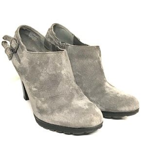 White mountain suede bootie
